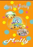 Personalised Baby Looney Tunes Birthday Card Design 1